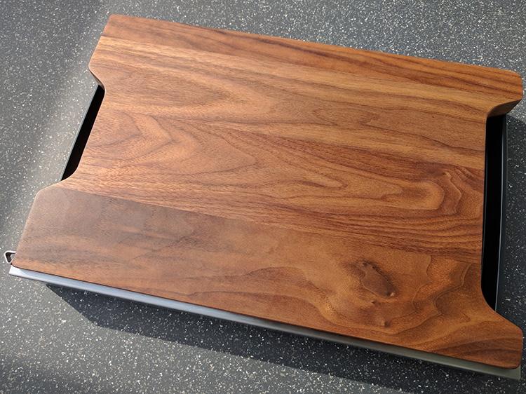 Schneidbox Nussbaum ohne Saftrille
