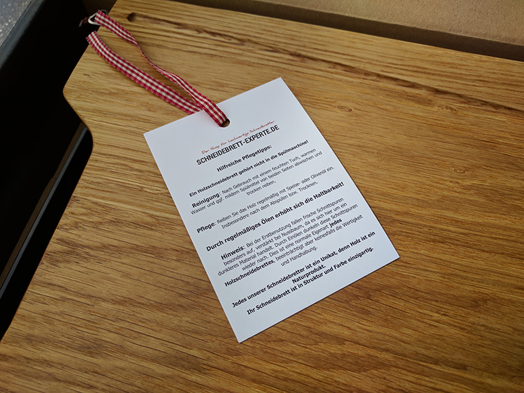 Pflegehinweise für Holzbretter