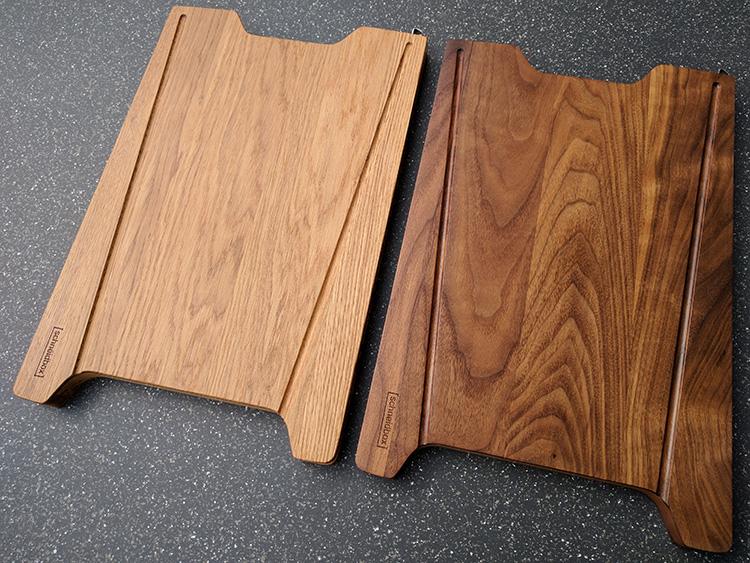 Hochwertige Holzbretter als Schneidboxauflagen