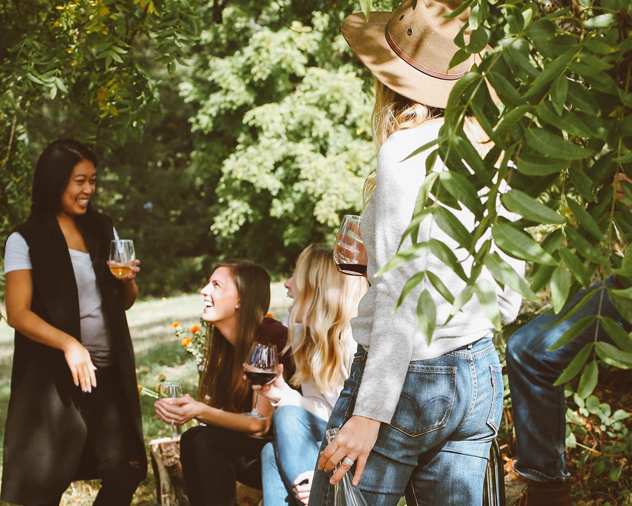 Grillparty mit Freunden
